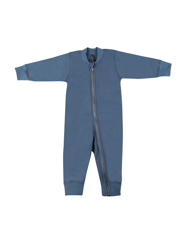 Image of Baby heldragt i uldfrotté dueblå Uldundertøj