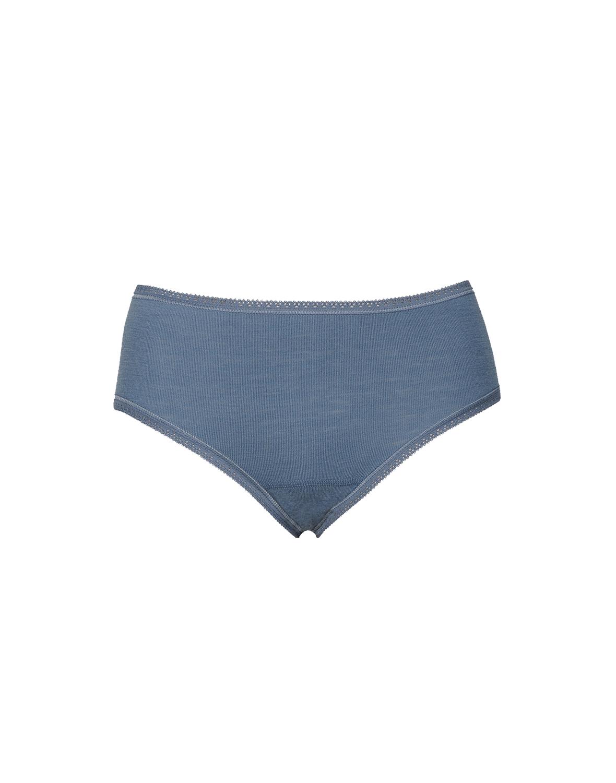 17c6a78bf383df DILLING Damen Midi Slip taubenblau - 100% BIO-Merinowolle NEU | eBay