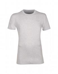 Bomulds t-shirt til mænd lys gråmelange