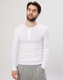 Premium classic - langærmet t-shirt mænd bomuld hvid