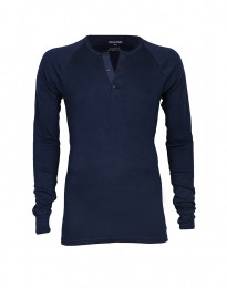 Premium classic - langærmet t-shirt mænd bomuld navy