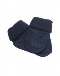 Babystrømper - økologisk merino uld støvet blå