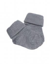 Babystrømper - økologisk merino uld gråmelange
