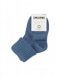 Babystrømper - økologisk merino uld dueblå