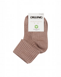 Babystrømper - økologisk merino uld støvet rosa