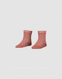 Børnestrømper - økologisk merino uld mørk rosa