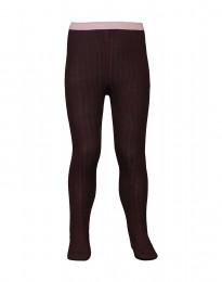 Børne strømpebukser - økologisk merino uld mørk lilla
