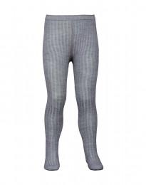 Børne strømpebukser - økologisk merino uld gråmelange