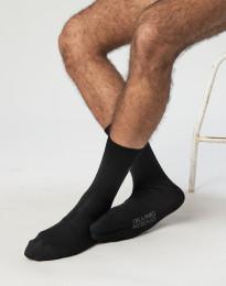 Herrestrømper - økologisk merino uld sort