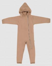 Køredragt til baby i merino uldfleece kanel