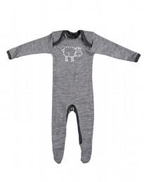 Merino Heldragt Baby gråmelange