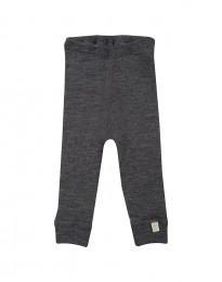 Baby leggings - økologisk merino uld mørk gråmelange