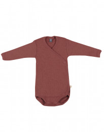 Slå-om body i merino uld til baby rouge