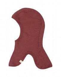 Elefanthue i økologisk merino uld rouge