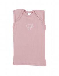Baby undertrøje - økologisk merino uld lys rosa