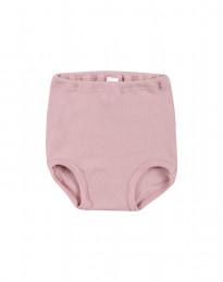 Trusse til baby - økologisk merino uld lys rosa