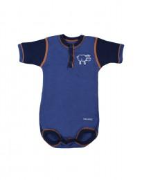 Merino uldbody til baby mørk blå