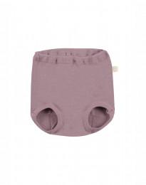 Merino uldtrusse til baby mørk rosa