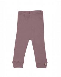 Baby leggings - økologisk merino uld mørk rosa