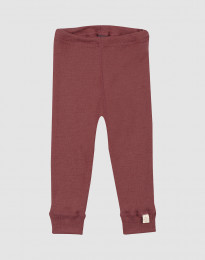 Merino uldleggings til baby rouge