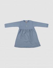 Merino uldkjole til baby blå