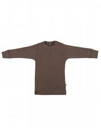 Merino trøje i bred rib til baby fudge