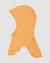 Elefanthue i ribstrikket merino uld gul