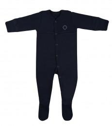 Baby heldragt m/fødder i økologisk bomuld navy