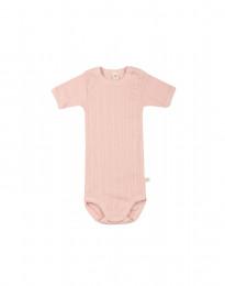 Kortærmet baby body i økologisk bomuld rosa
