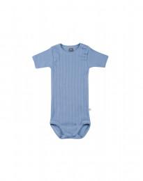 Kortærmet baby body i økologisk bomuld blå