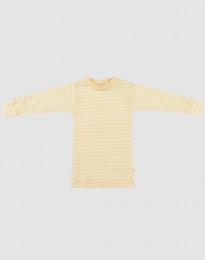 Langærmet trøje til baby i økologisk uld-silke Lys gul/natur