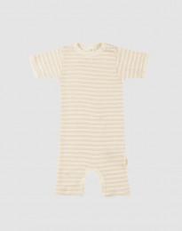 Sommerdragt til baby i økologisk uld-silke beige/natur