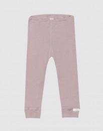 Leggings til baby i økologisk uld-silke pastelrosa