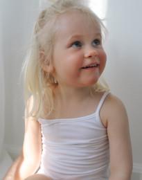 Bomulds top til pige hvid