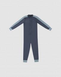 Heldragt til børn - Eksklusiv økologisk merino uld Blågrå