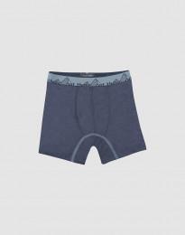 Børne tights - Eksklusiv økologisk merino uld - Blågrå