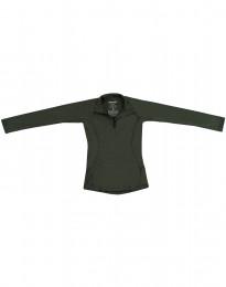 Børnetrøje med lynlås - eksklusiv merino uld grøn