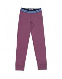 Leggings til børn - merino uld støvet lilla