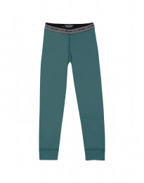 Leggings til børn - eksklusiv merino uld turkis grøn