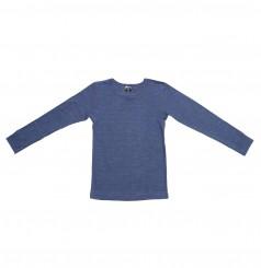 Uld-silke langærmet trøje til børn