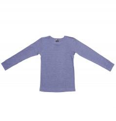 Pige langærmet trøje af fin uld og silke