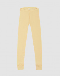 Børne leggings i økologisk uld-silke Lys gul