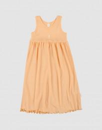 Kjole uden ærmer i økologisk uld-silke abrikos