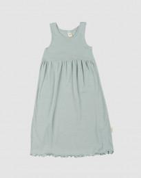Kjole uden ærmer i økologisk uld-silke pastelgrøn