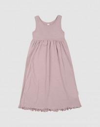 Kjole uden ærmer i økologisk uld-silke pastelrosa