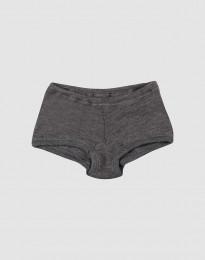 Pige hipster - økologisk merino uld mørk gråmelange