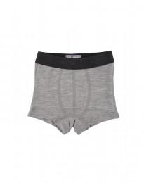 Merino uld undertøj tights til drenge gråmelange