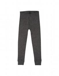 Børne leggings - økologisk merino uld mørk gråmelange