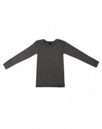 Børne trøje - økologisk merino uld mørk gråmelange