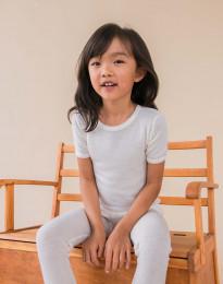 Børne merinould t-shirt natur